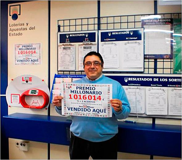 NUESTRO COMPAÑERO FRANCISCO RAMIREZ DE ALBACETE, DA MAS DE UN MILLON DE EUROS EN EUROMILLONES