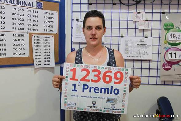 OLGA GONZÁLEZ TORIJANO, de Salamanca, da el 1er Premio de La Lotería Nacional de Jueves