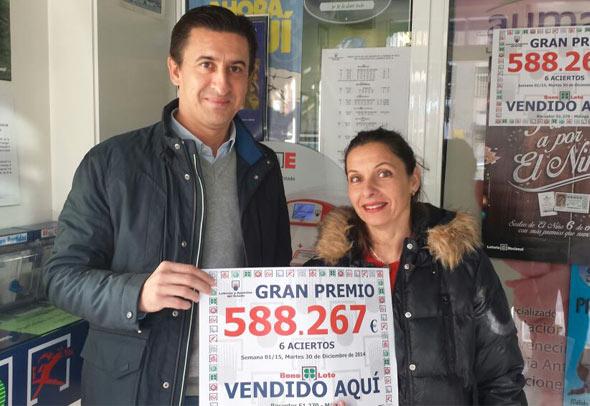 NUESTRA COMPAÑERA MALAGUEÑA SUSANA DIAZ DA UN IMPORTANTE PREMIO EN LA BONO LOTO