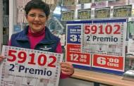 Nuestra compañera malagueña Dolores Riera, ha dado un 2º Premio de la Lotería Nacional del sábado